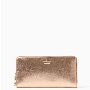Kate Spade Champagne Blush Lacey Wallet NWT